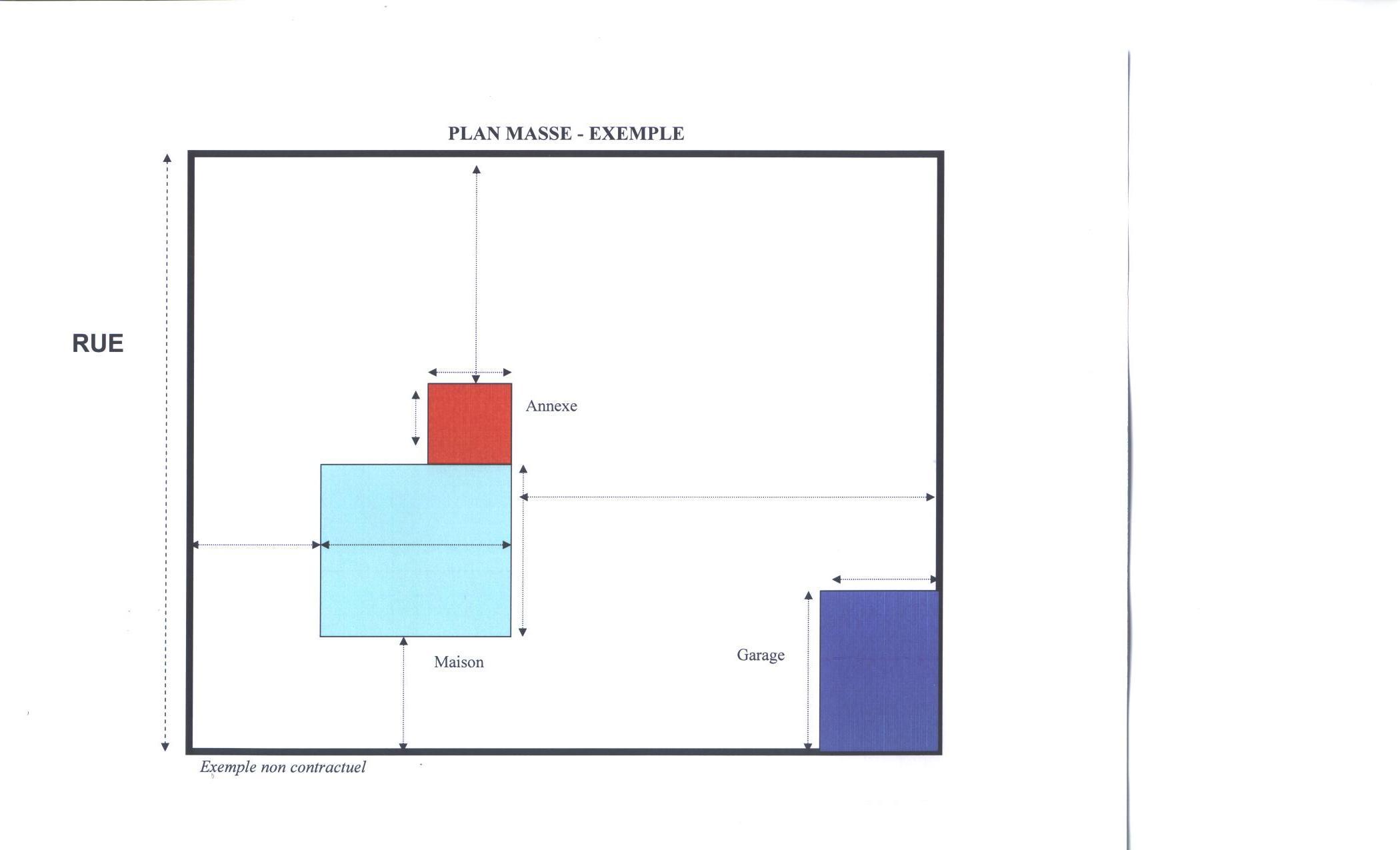 Le plan masse des constructions cliquez ici pour un exemple - Un plan en coupe du terrain et de la construction ...